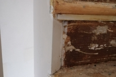 Trap detail na verwijderen tapijt